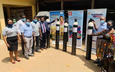 Mukwano donates Oxygen Gas Cylinders